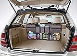 Trunk Organizer Car Storage – COOLBEBE Auto Organizer with 5 Deep Pockets & 4 Pockets Mesh, 100% Premium Quality, Car Backseat Organizer for SUV Van Container