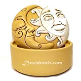Egan Caja de Sol y luna amarillo