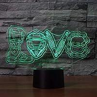 ナイトライトLEDメカニカルラブモデリングクリエイティブ7色おむつ交換台ランプ家の装飾オートバイファンギフト-タッチ