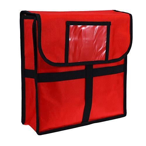 Xpccj 11 Zoll Pizza Liefertasche Tragbare Isolierte Liefertasche Picknicktasche Wasserdicht mit Schultergurt Rot 33x33x11cm