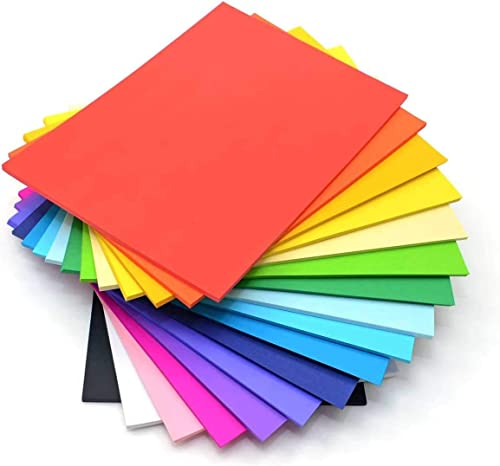 DSR 100 pcs Color A4 Medium Size Sheets (10 Sheets Each Color) Art and Craft Paper Double Sided Colored(Length -27.5 ...