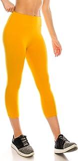 17fc50e75edbe ShyCloset High Waisted Yoga Leggings - Capri & Ankle Full Length Basic  Plain Soft Slim Tight
