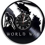 Wanggang Guerra Mundial Z Videojuego Disco de Vinilo Reloj de Pared Retro Cumpleaños Año Nuevo Regalo de cumpleaños de Navidad Personalidad Creativa decoración de la Pared del diseño del hogar