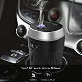 dodocool Ambientador Humidificador Coche, Ultrasónico Aromaterapia Portatil, 7 Color LED,...