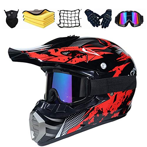 casco moto kit Casco da Motocross Set