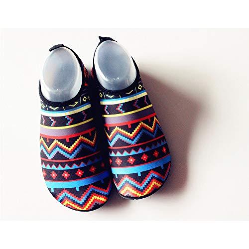 Hancoc Zapatos de playa Zapatillas de playa ultraligeras for hombres y mujeres Zapatillas de snorkel Zapatillas de buceo antideslizantes Zapatillas de natación Pies descalzos Zapatos suaves for la pie