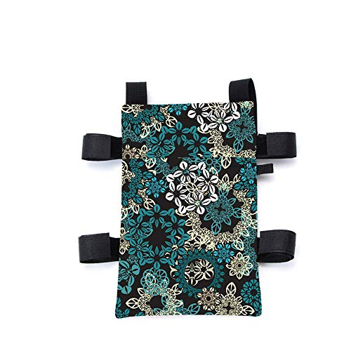 Crutch Bag, Universal Crutches Accessory, Crutch Carryon Pouch, Crutch Wallet Pocket Can Holds Cell Phone and Keys, Crutch Tray,Durable Oxford Fabric,Colorful Print (Colorful Print 1#)