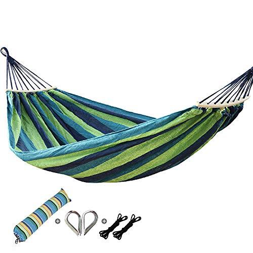 QJJML la Siesta hamac,hamac Portable, Toile de Plein air pour Toile de Camping, hamac Double de Camping, Patio, Camping, Plage et terrasse,Green