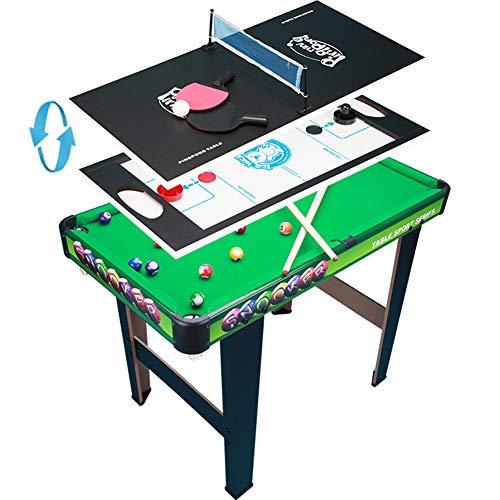 TY-ZWJ Luxus 3-in-1-Tisch-Spiel Set, Tischtennis Eishockey, Billard-Montage-Billardtisch Interaktives Kinder-Pädagogisches Spielzeug