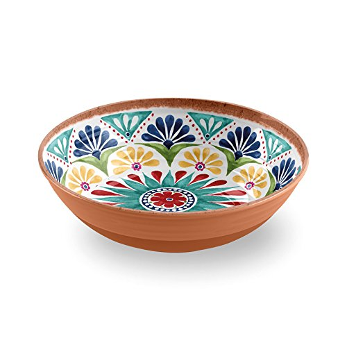 Epicurean Re-usable Rio Medallion 30cm Melamine Salad Serving Bowl