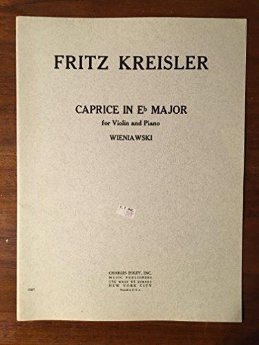 Caprice in Eb Major for Violin and Piano: Wieniawski (no. 1087)