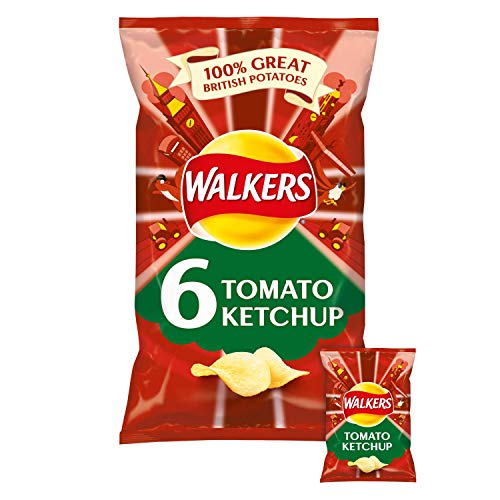 Walkers Crisps Tomato Ketchup 6-Pack / 6 x 25g