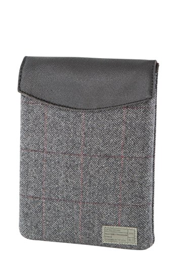 Hexagonal hx1830–Char Ashford Collection, Gris Herringbone Cuadros, Mini Tablet Envelop