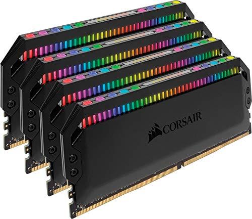 Corsair Dominator Platinum RGB Kit di Memoria per Desktop a Elevate Prestazioni, DDR4 4 x 8 GB, 3600 MHz, Nero