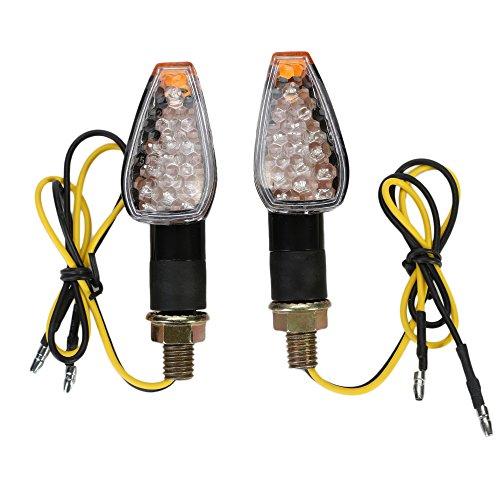 OSAN Intermitentes Moto, 2pz 14 LED Ámbar de Motos Lámparas Luces de Dirección Señales Universal para Yamaha R1 R6 FZ XT WR TW TT-R