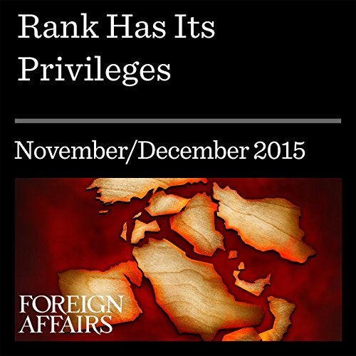 Rank Has Its Privileges audiobook cover art