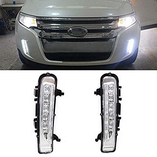 iJDMTOY Switchback LED Daytime Running Lights Compatible With 11-14 Ford Edge w/Turn Signal Lights, OEM Fit Lower Bumper Assy Powered by (6) Xenon White LED as DRL & (6) Amber LED as Turn Signals