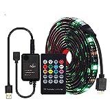 Tira de LED USB a prueba de agua 5050 RGB con controlador de música 20key RF Remote 2m Luz flexible TV Set de iluminación de fondo