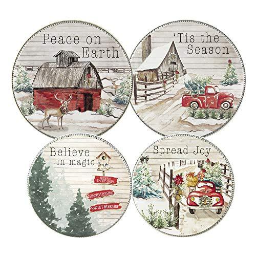 Home For Christmas Design - Round Range/Stove Burner Kovers