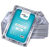 Bandejas de aluminio desechables grandes recipientes para hornear, cocinar, congelar y almacenar bandejas – 32 cm x 20 cm x 3,3 cm Paquete de 20