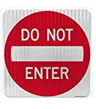 Do Not Enter | Road & Street Sign | Controls Traffic | Engineer Grade | 3M Reflective Sheeting & Inks | Rust-Free Aluminum | Made in USA (24' X 24')