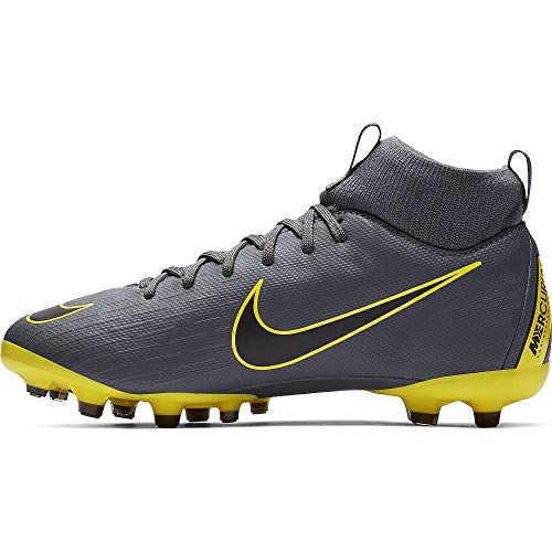 Nike Superfly 6 Academy MG, Football Shoe, Dark Grey/Black-Dark Grey, 36 EU