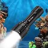 Wurkkos DL30 Linterna de Buceo. Antorcha de buceo de 3600 Lúmenes. Resistencia al agua IPX8. Incluye 3 * Samsung LH351D LED Blanco Neutro (90 CRI) Linterna de buceo con batería 1* 21700 y cargador