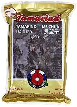 Lucky Label - Pasta de Tamarindo sin Semillas - Muy Utilizada en la Cocina Asiática - 454 Gramos
