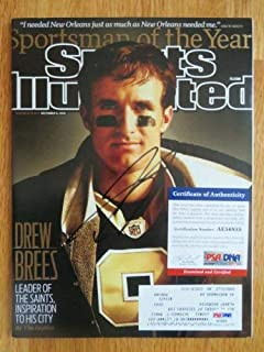 Drew Brees Autographed Signed Sports Illustrated 12-6-2010 New Orleans Saints PSA Ae56855
