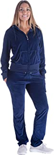 Facitisu Tracksuit for Women Set2 PieceJoggers Velour Jogging Sweat Outfits Hoodie and Sweatpants Set