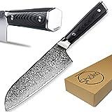 Shoko® Couteau santoku japonais avec manche ergonomique Professionnel Couteau de Cuisine Coteaux japonaise Couteau de Chef japonais cusine