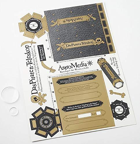 Astromedia Bausatz: Piraten Teleskop, gallileisches Fernglas mit 6-facher Vergrößerung