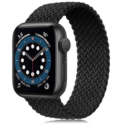 Younsea Correa Solo Loop Apple Watch, Correas Compatible con Apple Watch 38mm 40mm, Fibras de Silicona Trenzadas elásticas Correa Compatible con Apple Watch SE/iwatch Serie 6 5 4 3 2 1