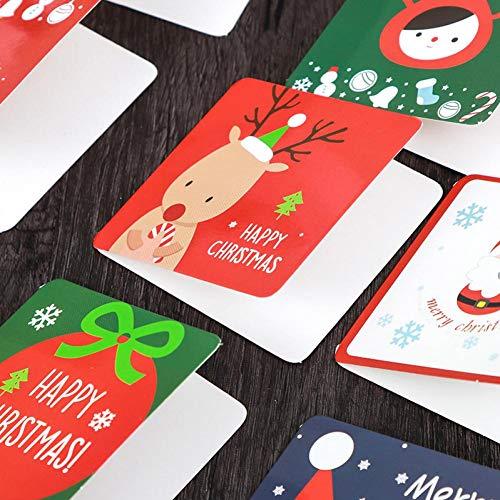 Zonfer 6pcs Frohe Weihnachten Grußkarten Umschlag, Winter-Feiertags-weihnachtsgrußkarten Anmerkungen Klappkarten Für Familie Freunde Geschenke Box Christmas Party Favor Supplies Einladung