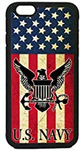 THE FORCE SERIES - Sleek, stunning & unique -US Navy USN Army Military Logo Flag Rubber Silicon Black Case Cover for NEW iPhone 6 / 6s (4.7 INCH), by Cell World LLC- TmShips from Florida