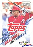 2021 Topps Series 1 MLB Baseball HUGE EXCLUSIVE Factory Sealed 67 Card Hanger Box with (2) INSERT Cards! Loaded with Rookies & Stars! Look for Autos, Relics & Parallels! 70th Anniversary! WOWZZER!
