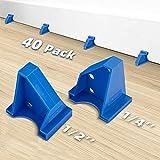 "Upgraded 40 Pack Flooring Spacers Laminate Flooring Installation Kit with 1/4"" & 1/2"" Gap, Wood Floor Install Tool for Laminate, Vinyl Plank, Hardwood, LVT, Bamboo and Floating Floor Installation"