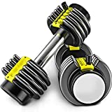 METTE Removable Dumbbell Set, Multi-Level Weight Adjustment, Effective Fitness Strength Training,...