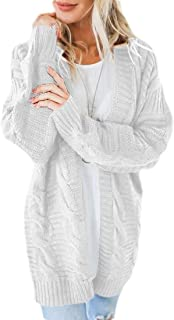 Women's Long Sleeve Open Front Chunky Sweater Knit Cardigans