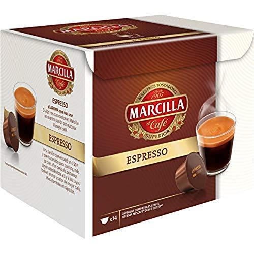 MARCILLA Espresso - cápsulas compatibles con las cafeteras Nescafé(R)* Dolce Gusto(R)* | 3 paquetes de 14 cápsulas - Total 42 cápsulas