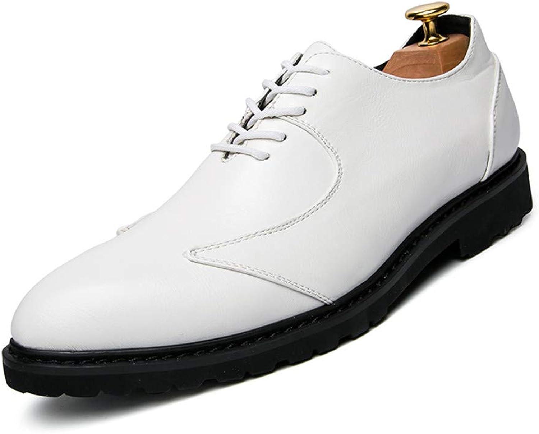 JIALUN-Schuhe Herren Classic Business Oxford Lässige Lässige Lässige Weiche Atmungsaktive Niedrige Spitze Retro Britischen Stil Formale Schuhe (Farbe   Weiß, Größe   43 EU) 2d0c7d