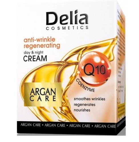 Anti-Wrinkle Regenerating Day & Night Cream - Argan Care with Coenzyme Q10 50ml by delia