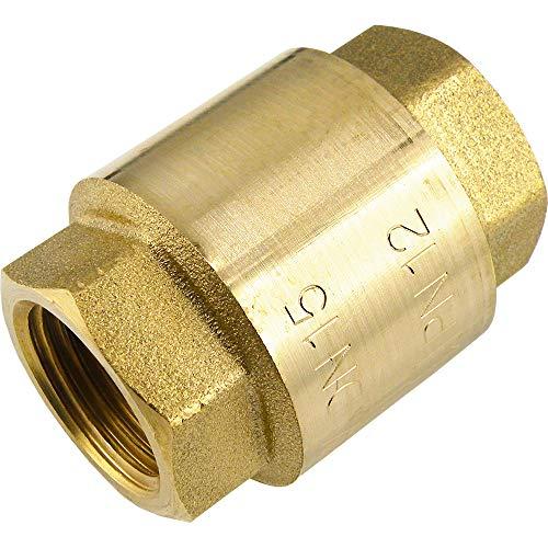 Válvula antirretorno (latón, hasta 25 bar, para aire comprimido, agua, aceites minerales, vacío)