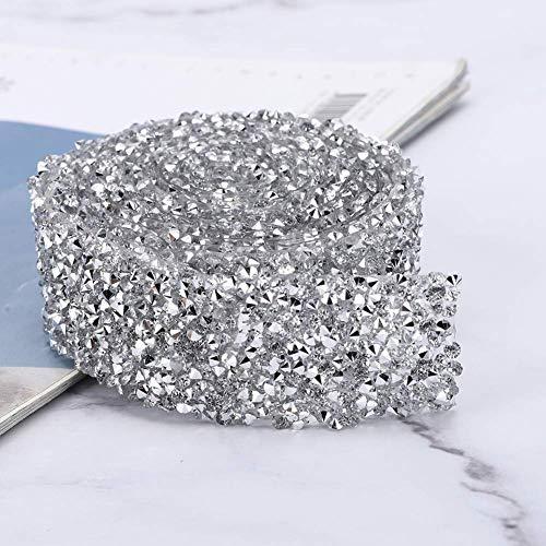 Cadena de diamantes de imitación, decoración de zapatos, delicado ancho de 3...