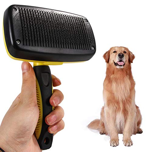 Pet Brushes for Dogs, Pet Grooming Brush Effectively Reduces Shedding By Up To 90% Professional Deshedding Tool for Dogs and Cats