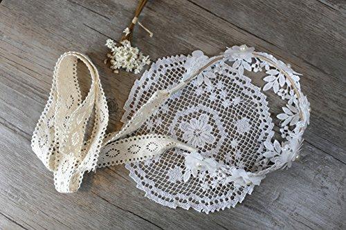 Qinlee Diadema para novia con encaje de flores para bodas, diademas de...