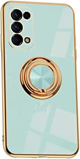 MOONCASE for Oppo Reno5 5G Case, Ultra Thin Soft TPU Shiny Gold Plated Edges Anti Scratch & Shock Absorption with Rotating...