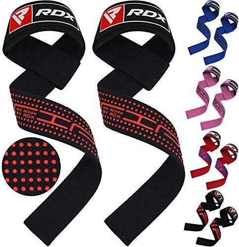 RDX Zughilfen Bodybuilding Handgelenkbandage Krafttraining Fitness Gewichtheben Zughilfe Fitness Klimmzughaken Straps (MEHRWEG)