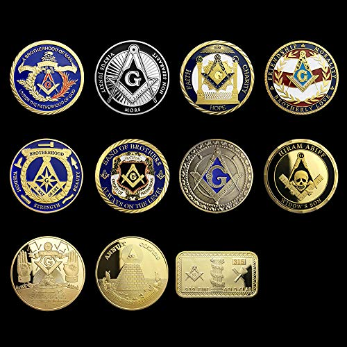 Masonic Challenge Coin United States Freemason Coin 11 Coins