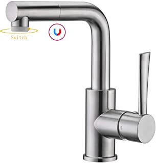 Bar & Prep Sink Faucet, Pull Out Bathroom Faucet in Brush Nickel, Wet & Mini Bar Faucet